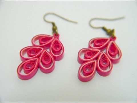 Quilling Paper Earrings Making Video Quilling Paper Earring