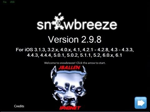 sn0wbreeze-v2.9.8 ios 6.1 Jailbreak Untethered - Hacktivation completo