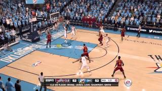 NBA Live 16 Russell Westbook Go Crazy For 30 Points