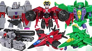 Transformers Cyberverse warrior class Windblade VS Megatron, Acid Storm, dinosaurs! #DuDuPopTOY