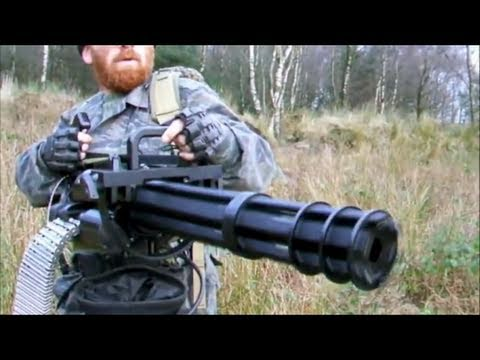 "M134 MINI GUN ""THE FORT"" AIRSOFT WAR AK47 L85 VSR L96 Scotland"