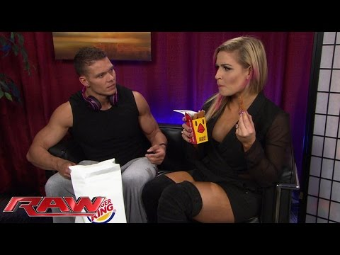 "Tyson Kidd & Natalya Experience ""true Love"" And Burger King Chicken Fries: Raw, March 23, 2015"