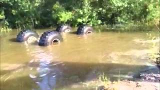 Truck Accidentally Rolls/Flips Over In Mud Going Uphill