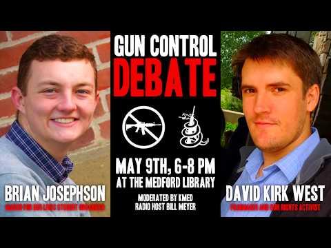 David Kirk West and Brian Josephson Debate Gun Control