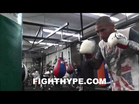 ASHLEY THEOPHANE WORKOUT DAYS AHEAD OF CLASH WITH PABLO CESAR CANO