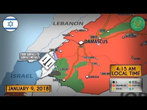 10 января 2018. Военная обстановка в Сирии. Сирия заявила об отражении 3 ракетных атак Израиля.