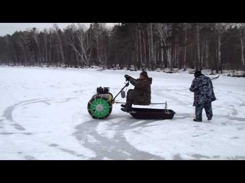 Как сделать из мотоблока снегоход своими руками