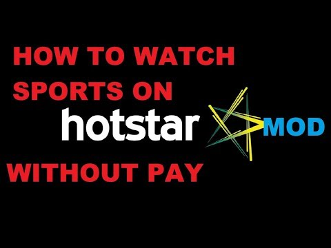How to Watch Sports On Hotstar Without Pay l Hotstar Premium Mod
