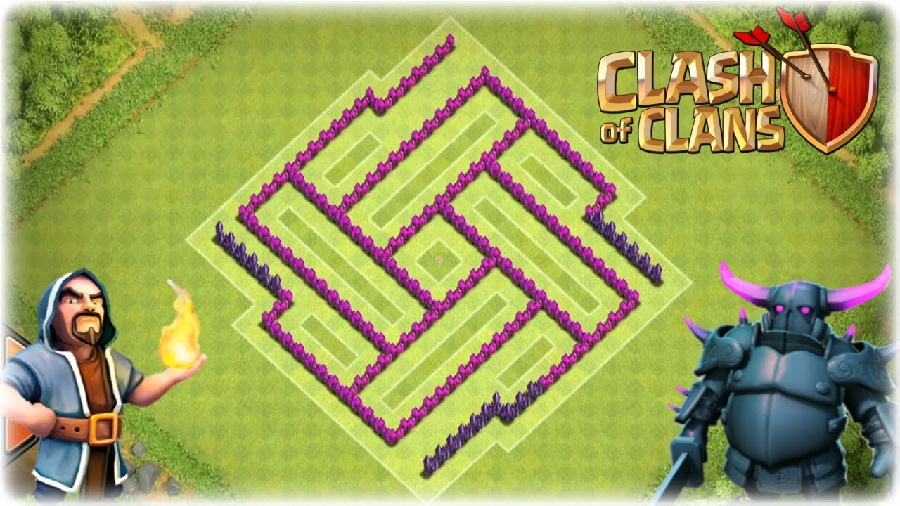 Clash of clans th7 clans wars trophy base its a trap youtube