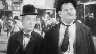 Laurel and Hardy dancing on the Psychedelic Bungee Jump