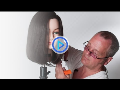 How to cut a bob haircut Medium one length bob Preview 113