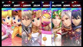 Super Smash Bros Ultimate Amiibo Fights Request #1317 Waifu Free for all