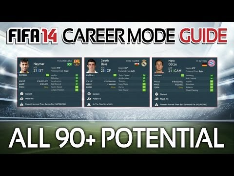 FIFA 14: All Players with 90+ POTENTIAL in Career Mode! (Career Mode Guide #3)