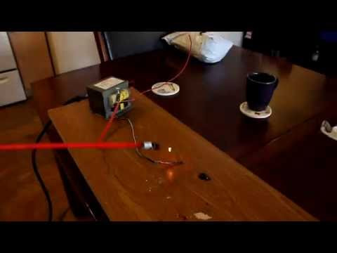 Fat bright arcs from microwave oven transformer