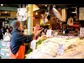Flying Fish throwing attraction at Pike Place Market in Seattle, WA