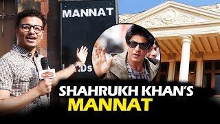 Shahrukh Khan's LAVISH Bungalow - MANNAT - Watch Video