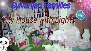 Обзор дома Sylvanian Families City House with Lights