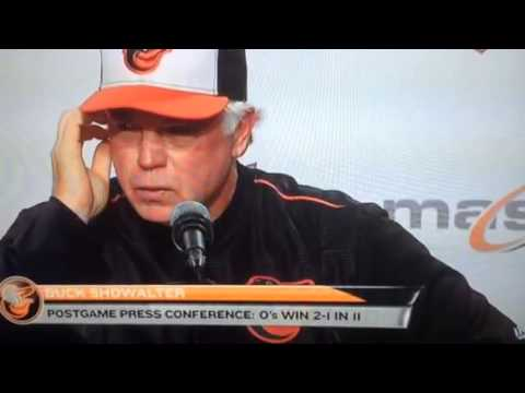 Showalter was proud of Baltimore fans