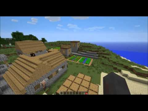 Awesome 1.6 Seed! Spawn in Extreme Hills Village! Plains Village Inside Desert!