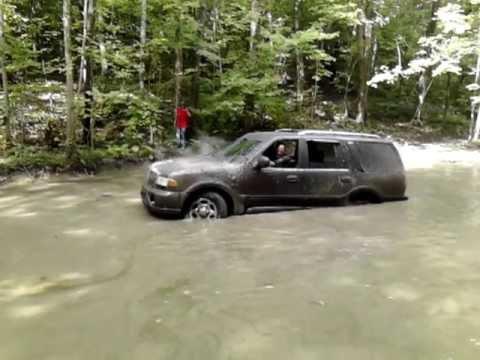 Lincoln Navigator Stuck Deep Water