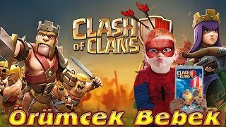 Örümcek Bebek Clash of Clans Oyunu Oynuyor Örümcek Bebeğin Oyunları