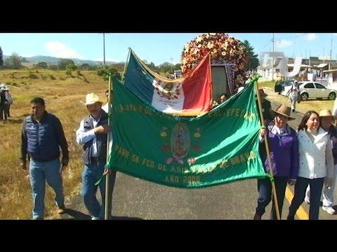 Edil Francisco Reynoso fortalece el andar de peregrinos, Valle de Bravo