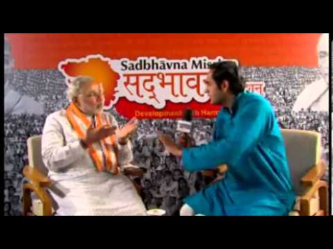 Watch How Narendra Modi Destroyed Rahul Kanwal a Pseudo-Secular Journalist Part 1/5