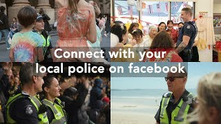 Connect with your local police on facebook