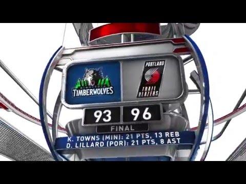 Minnesota Timberwolves vs Portland Trail Blazers - January 31, 2016