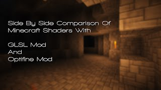 Side By Side FPS Comparison Of Minecraft Shaders With GLSL Mod And Optifine Mod