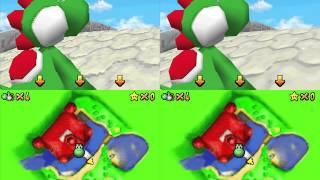 Super Mario 64 DS HD Resolution Comparison