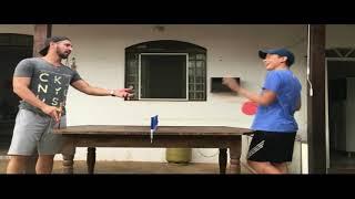 Perdendo pro meu pai no Ping Pong
