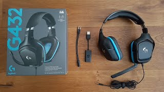 THE BEST BUDGET GAMING HEADSET Logitech G432 [Unboxing and Complete Setup]