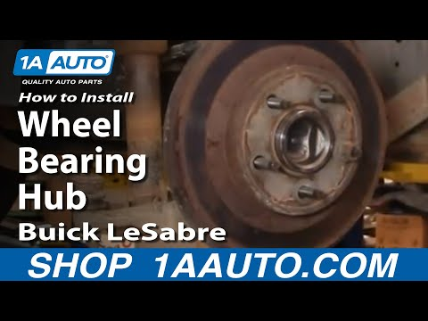 How To Install Replace Rear Wheel Bearing Hub Buick LeSabre 00-05 1AAuto.com