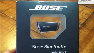 Bose Bluetooth Series 2 Unboxing