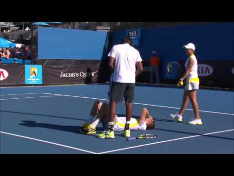 Jack Sock Hit Where It Hurts - Australian Open 2013
