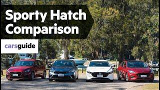 Cerato GT vs i30 N-Line vs Focus ST-Line vs Mazda 3 G25 Evolve 2019 comparison review