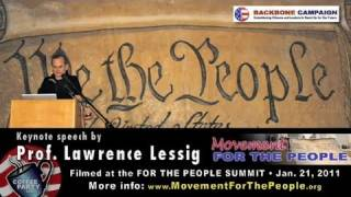 Lawrence Lessig Keynote on Citizens United Decision @ For the People Summit