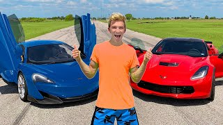 WORLDS FASTEST CAR WINS $10,000!! ($1Million Top Secret Reveal)