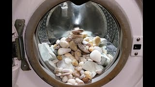 Experiment - Stones - in a Washing Machine - Centrifuge
