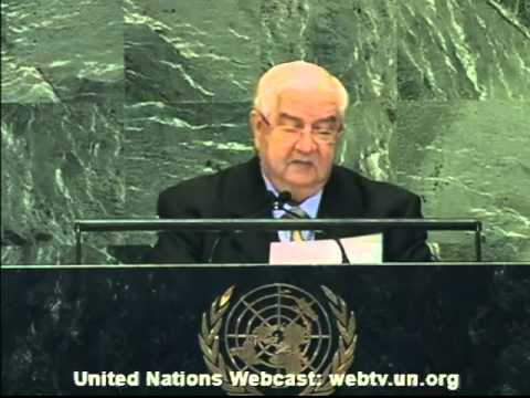 Syrian Arab Republic General Debate, 67th Session United Nations 2012 2/2
