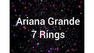 Ariana Grande-7 Rings (Lyrics)