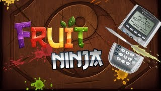 Fruit Ninja on TI Calculator