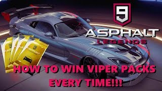 Asphalt 9 Legends - How to Win VIPER ACR Packs Every Time !!!