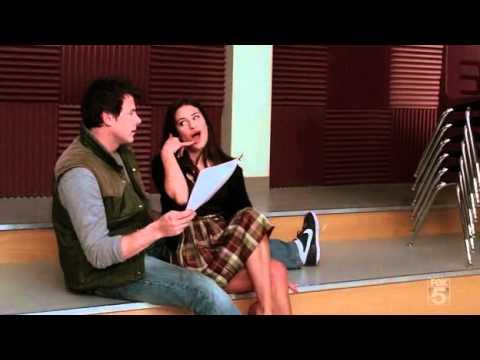Glee - Smile - Rachel Berry and Finn Hudson (Cory Monteith)