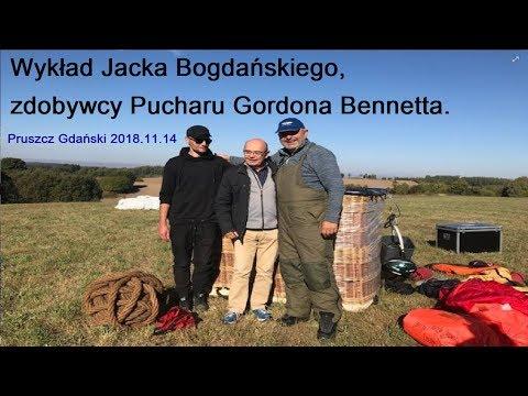Wykład Jacka Bogdańskiego, Zdobywcy Pucharu Gordona Bennetta. Aeroklub Gdański 2018.11.14