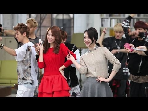 [HD] SNSD Yoona with f(x) Sulli and EXO - SK Telecom CF Making Film
