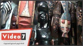 بالفيديو.. شاهد تمثال الفلاحة الإفريقية يغزو سوق الحسن