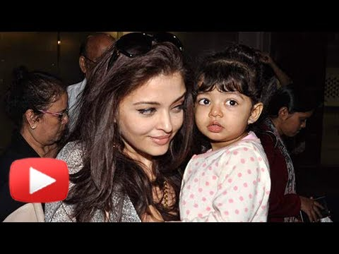 Aishwarya Rai Accompanies Baby Aaradhya Bachchan To School video