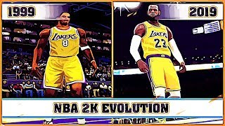 NBA 2K evolution [1999 - 2019]